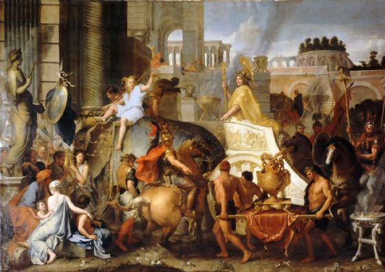 Le Brun, Charles: The Entry of Alexander into Babylon. Historical Fine Art Print/Poster. Sizes: A4/A3/A2/A1 (00595)